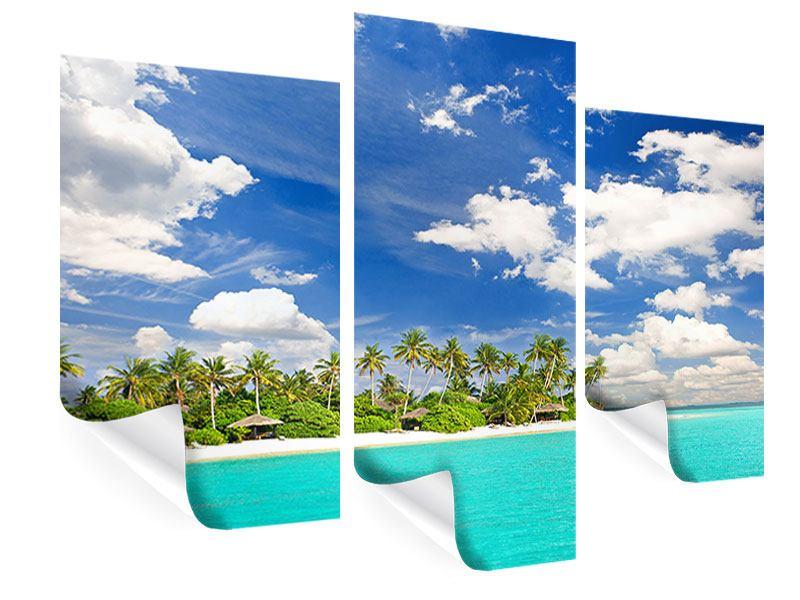 Poster 3-teilig modern Meine Insel