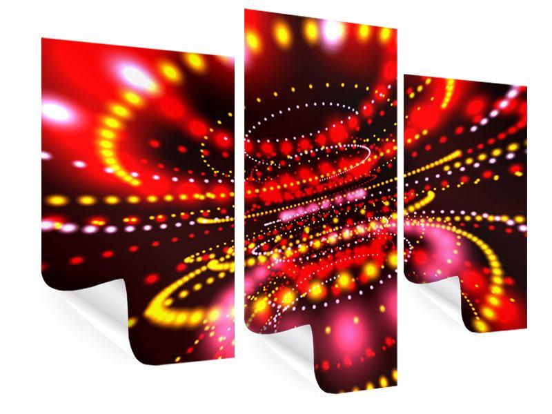 Poster 3-teilig modern Abstraktes Lichtspiel
