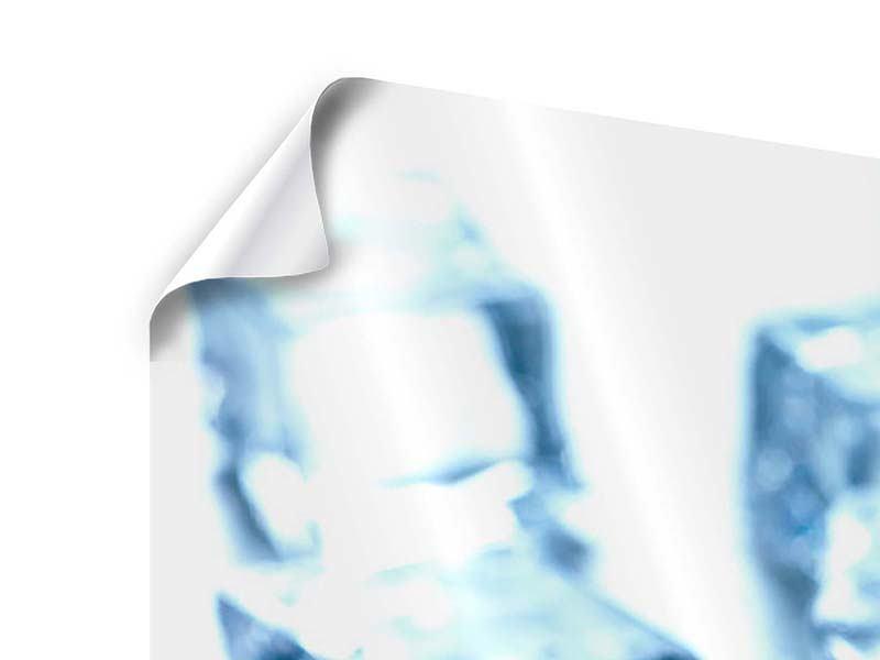 Poster 3-teilig modern Viele Eiswürfel