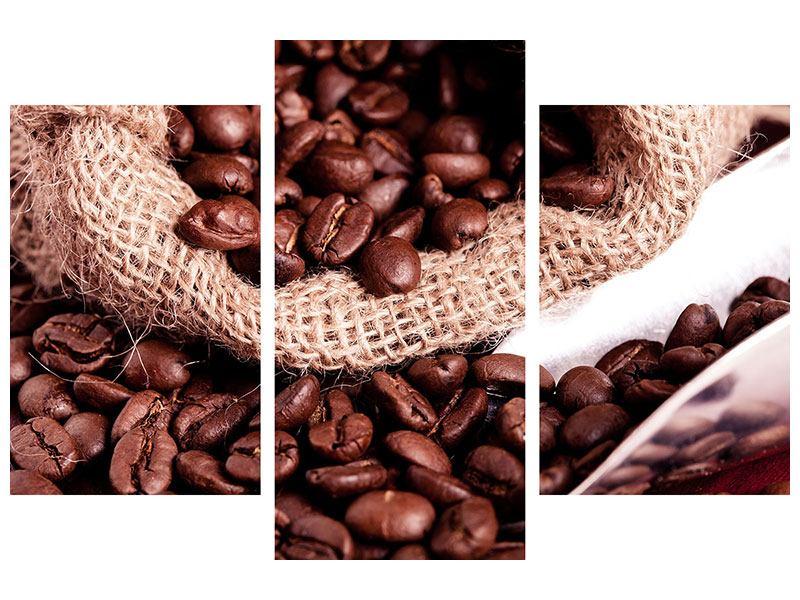 Poster 3-teilig modern XXL Kaffeebohnen