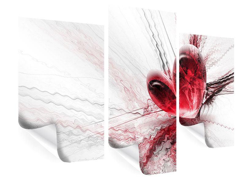 Poster 3-teilig modern Herzspiegelung
