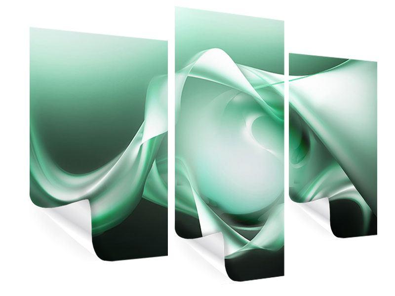 Poster 3-teilig modern Abstrakt Tuchfühlung