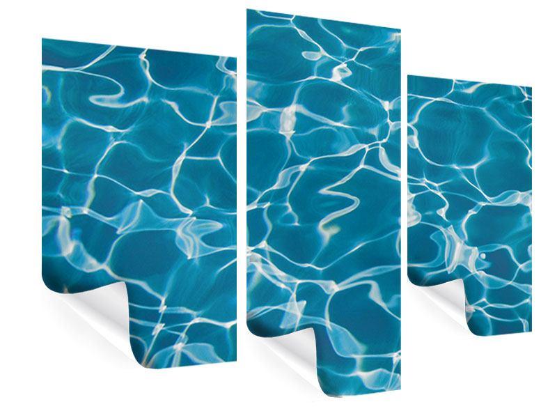 Poster 3-teilig modern Pool