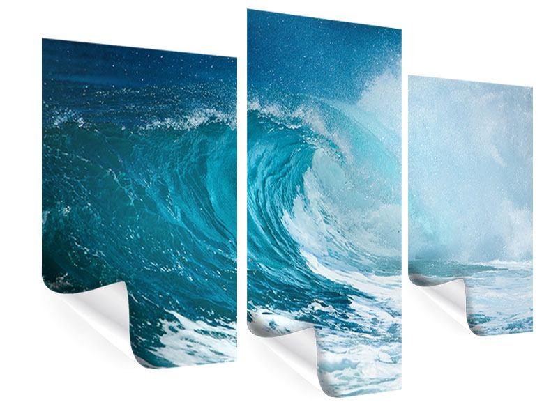 Poster 3-teilig modern Die perfekte Welle