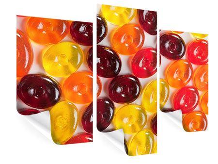 Poster 3-teilig modern Bonbons