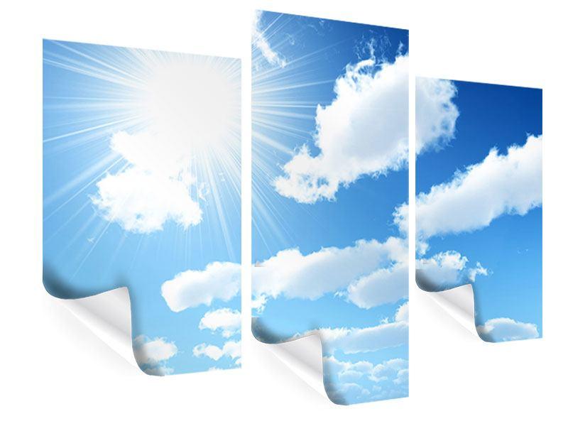 Poster 3-teilig modern Am Himmel