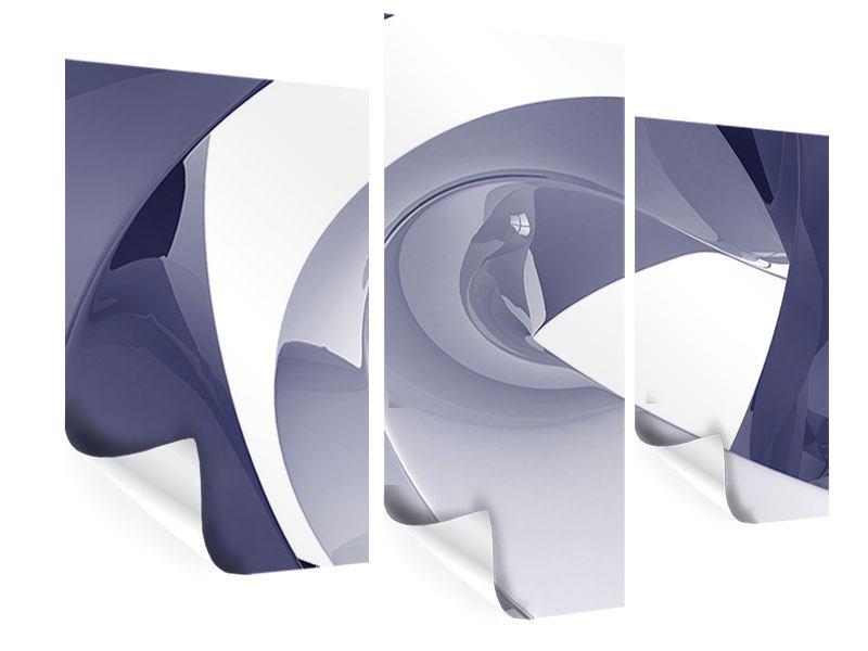 Poster 3-teilig modern Abstrakte Schwingungen