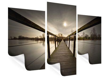 Poster 3-teilig modern Die Holzbrücke