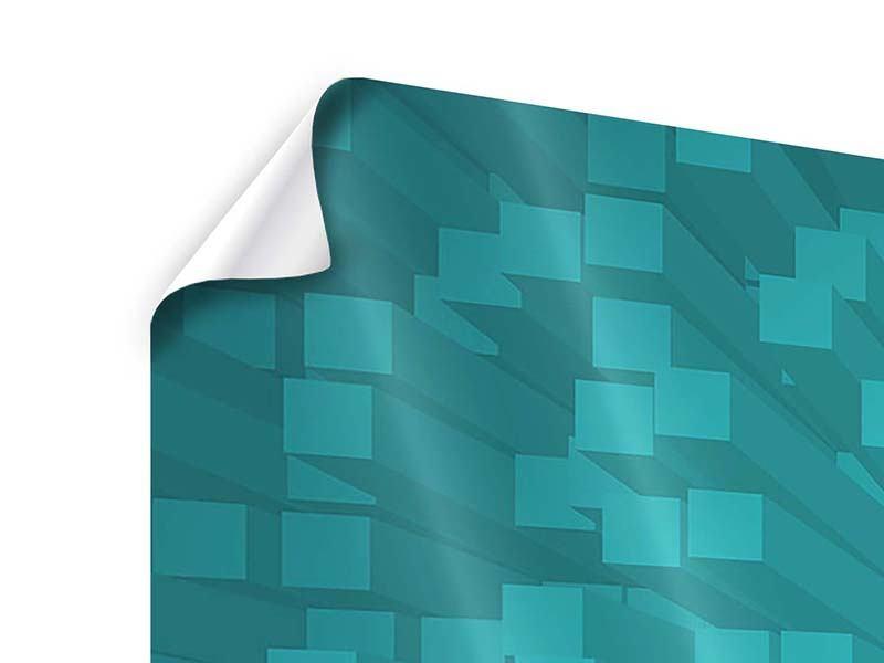 Poster 3-teilig modern 3D-Kubusse