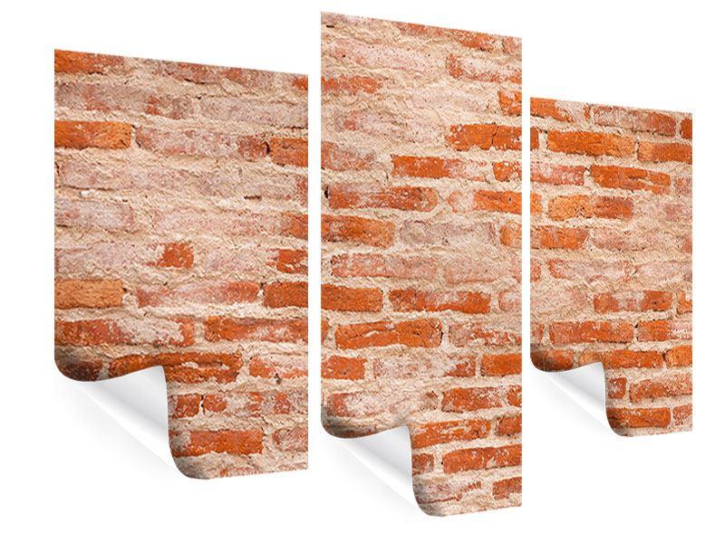 Poster 3-teilig modern Mauerwerk