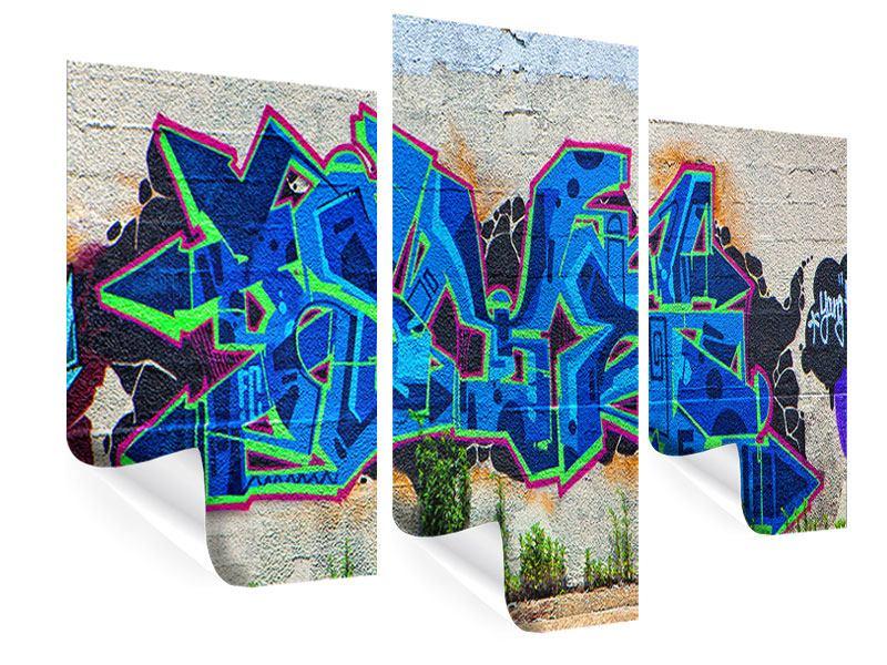 Poster 3-teilig modern Graffiti NYC
