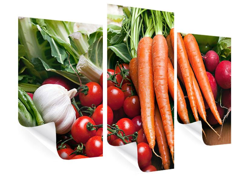 Poster 3-teilig modern Gemüse