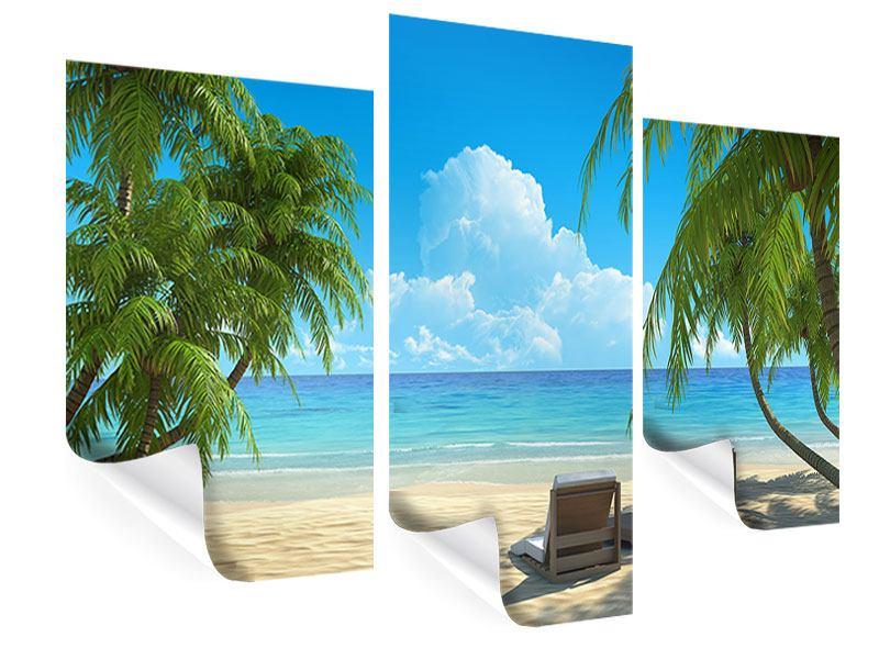 Poster 3-teilig modern Strandparadies