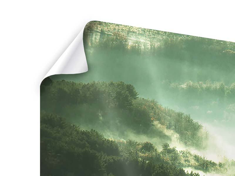 Poster 3-teilig modern Über den Wäldern