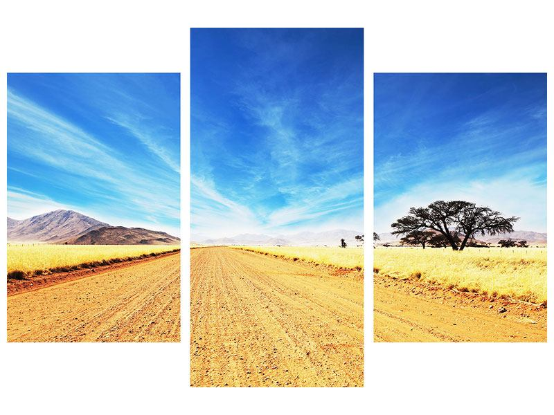 Poster 3-teilig modern Eine Landschaft in Afrika