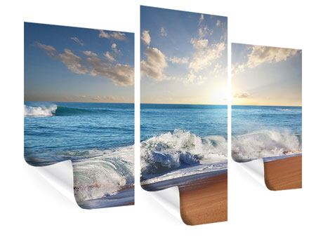 Poster 3-teilig modern Die Wellen des Meeres