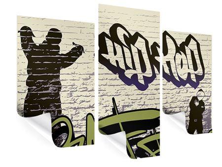 Poster 3-teilig modern Graffiti Hip Hop