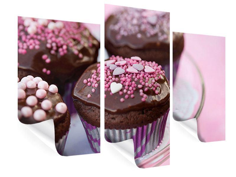 Poster 3-teilig modern Muffins
