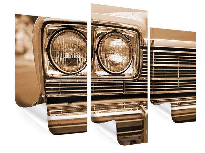 Poster 3-teilig modern Oldtimer Close up