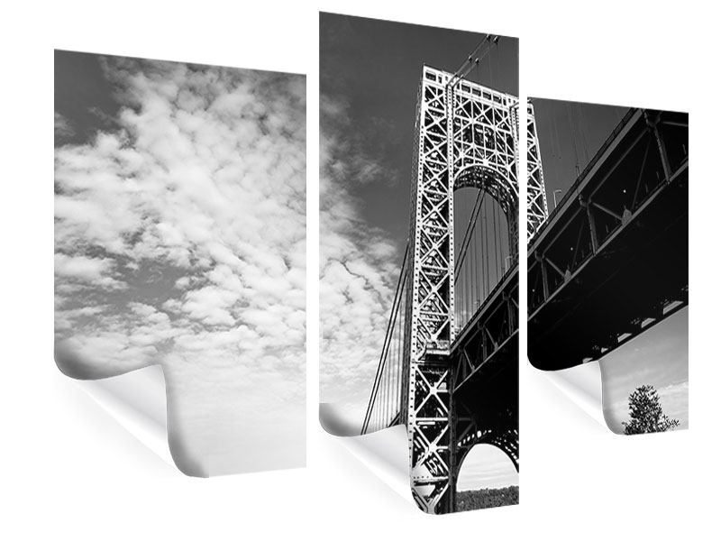 Poster 3-teilig modern Georg-Washington-Bridge