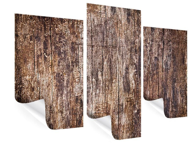 Poster 3-teilig modern Retro-Holz