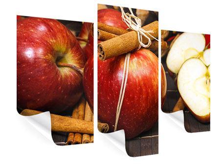 Poster 3-teilig modern Äpfel
