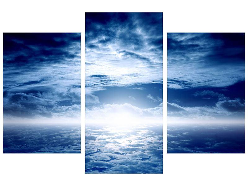 Poster 3-teilig modern Mystischer Himmel
