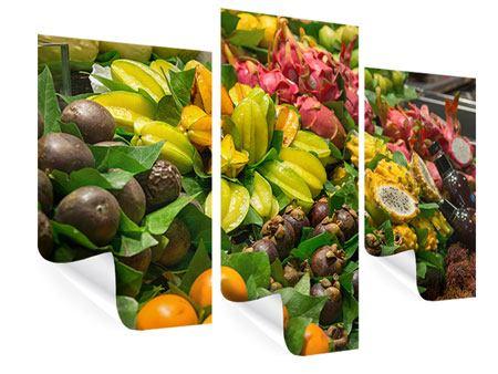 Poster 3-teilig modern Früchte