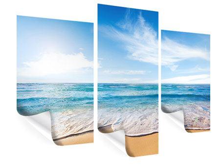 Poster 3-teilig modern Spuren im Sand
