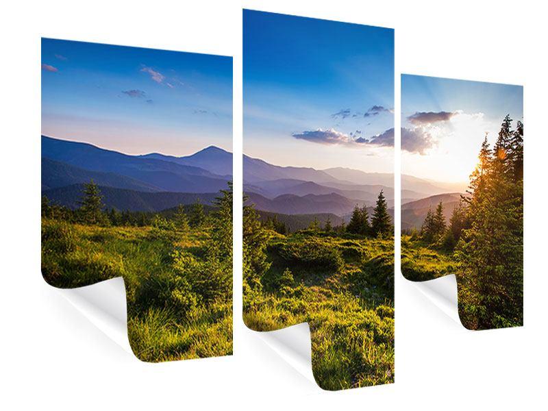 Poster 3-teilig modern Friedliche Landschaft