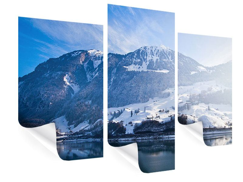Poster 3-teilig modern Winterwunderland