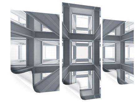 Poster 3-teilig modern Räume