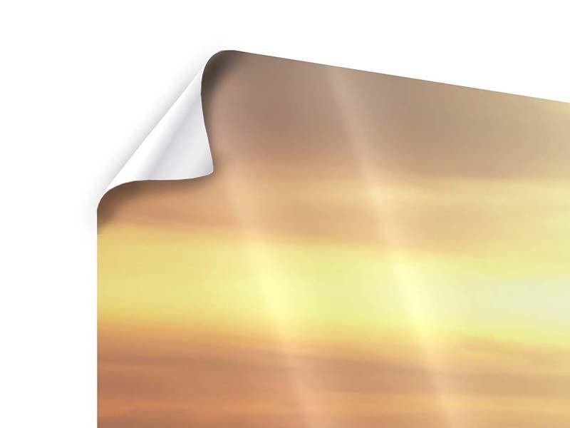 Poster 3-teilig modern Sonnenuntergang an der See