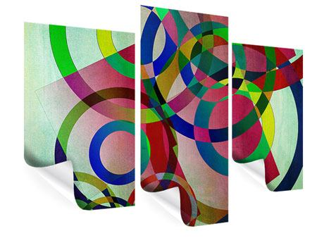Poster 3-teilig modern Wandkunst