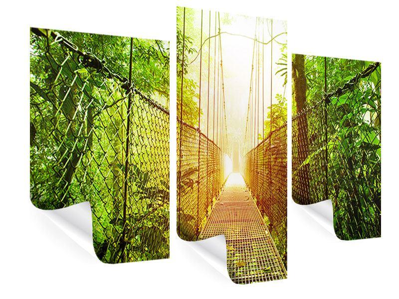 Poster 3-teilig modern Hängebrücke