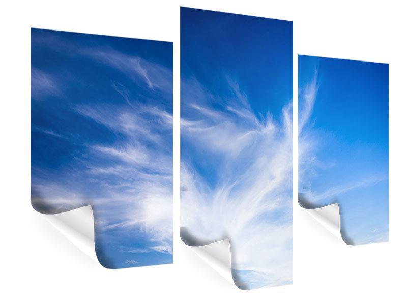 Poster 3-teilig modern Schleierwolken