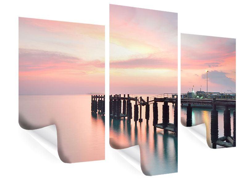 Poster 3-teilig modern Der beruhigende Sonnenuntergang