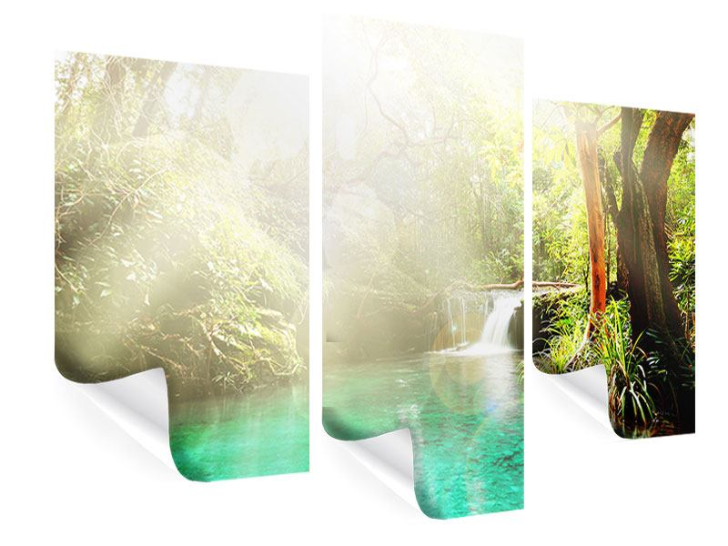 Poster 3-teilig modern Die grüne Lagune