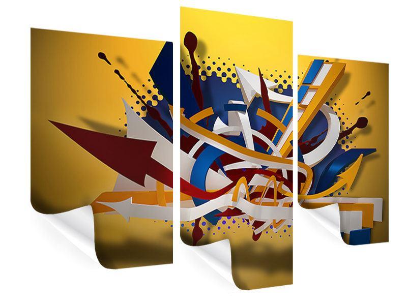 Poster 3-teilig modern Graffiti Art