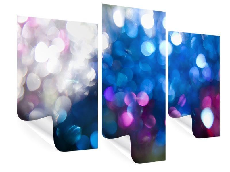 Poster 3-teilig modern Abstraktes Licht