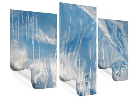 Poster 3-teilig modern Das Eis des Baikalsees