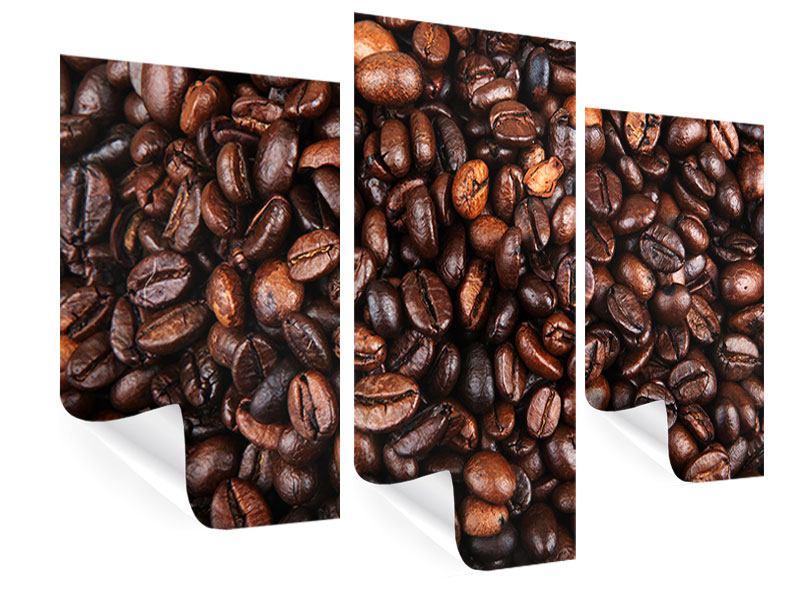 Poster 3-teilig modern Kaffeebohnen in XXL