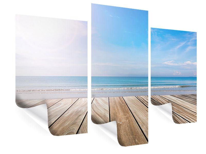Poster 3-teilig modern Das schöne Strandhaus