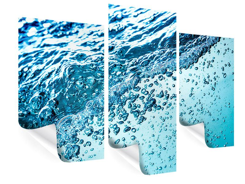 Poster 3-teilig modern Wasser in Bewegung