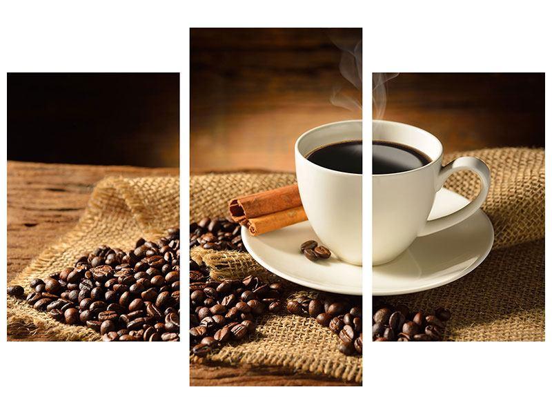 Poster 3-teilig modern Kaffeepause
