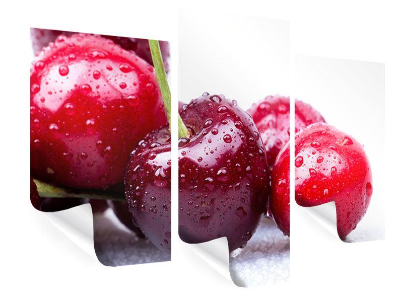 Poster 3-teilig modern Kirschen