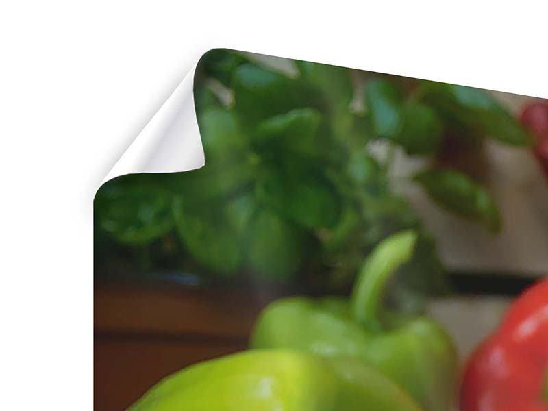 Poster 3-teilig modern Mediterranes Gemüse