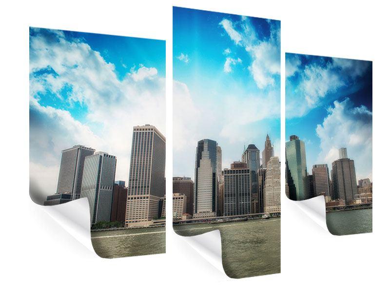 Poster 3-teilig modern Skyline Lower Manhattan