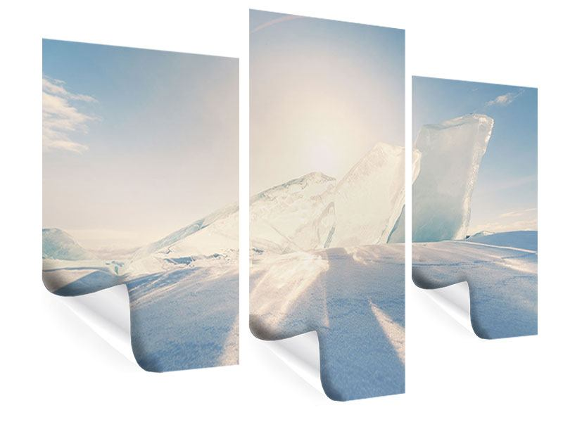 Poster 3-teilig modern Eislandschaft