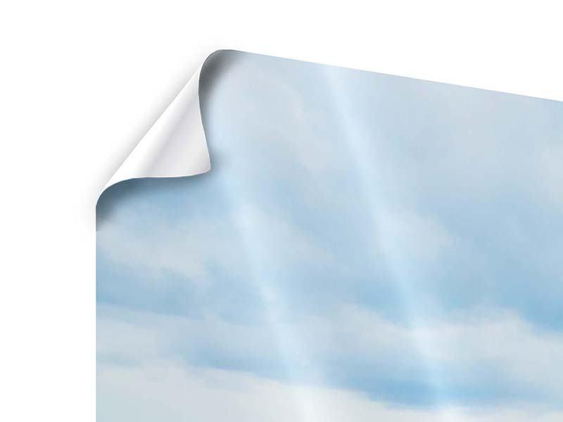 Poster 3-teilig modern Ozean-Steg